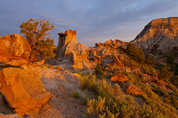 Badlands in Makoshika State Park in Glendive, Montana