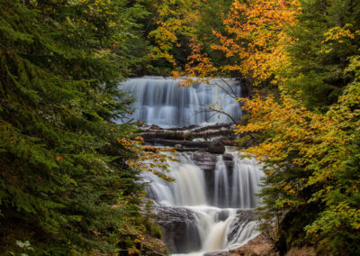 Sable Falls in autumn in Pictured Rocks National Lakeshore, Michigan, USA
