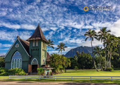 Historic Waioli Huiia Church in Hanalei in Kauai, Hawaii, USA