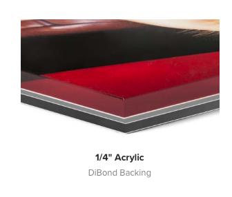Acrylic-Dibond backing